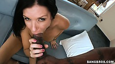 Professional actress India Summers enjoys rapid fuck with big poker