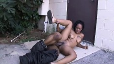 Naughty ebony hooker gets her slit dicked in a lot of positions