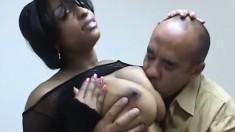 Voluptuous Carmen Hayes gets her ebony snatch pounded by Guy Dasilva