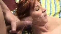 Horny slut uses a vibrator on her clit as a big cock drills her ass