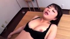 Cute Japanese Big Boobs Hairy Pussy